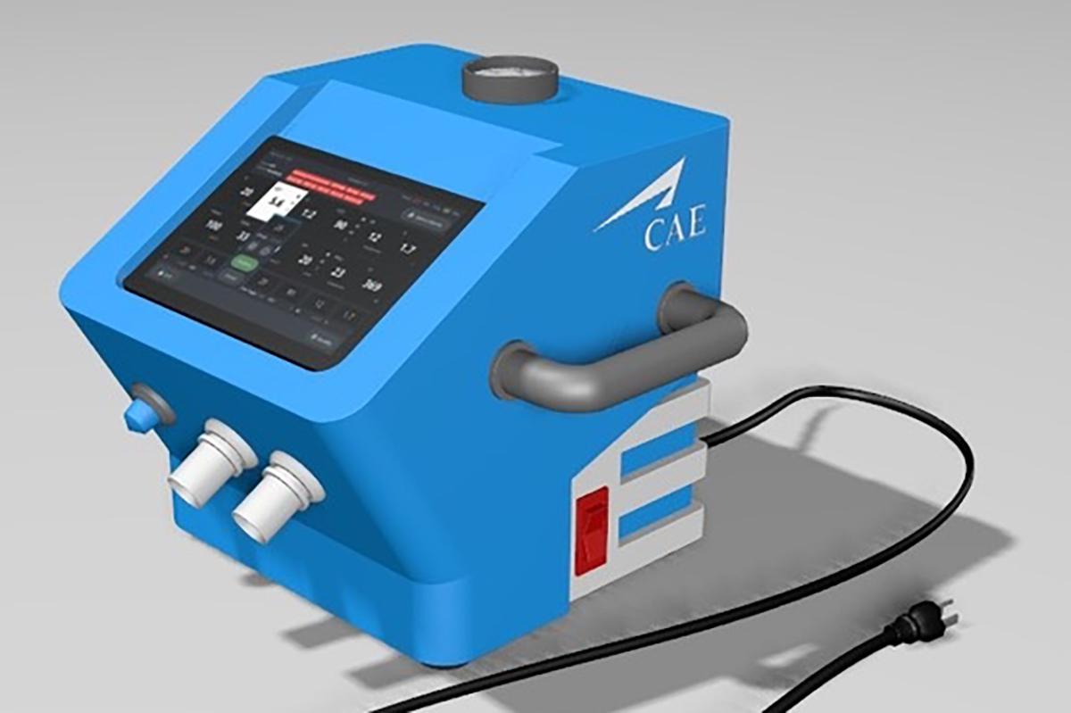 CAE Healthcare Making Ventilators